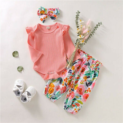 SPRING FLOWERS Outfit with Headband