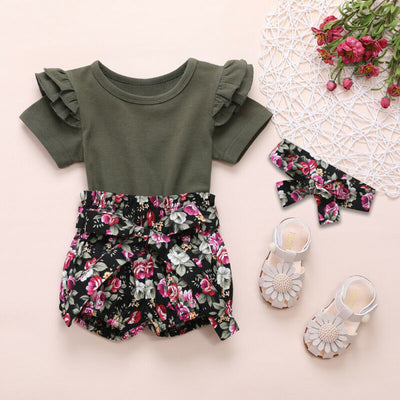 CARLA Floral Outfit with Headband
