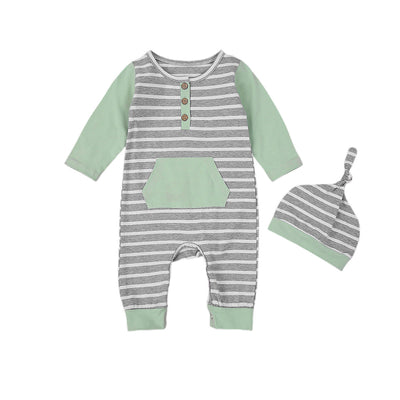 FELIX Striped Jumpsuit with Beanie