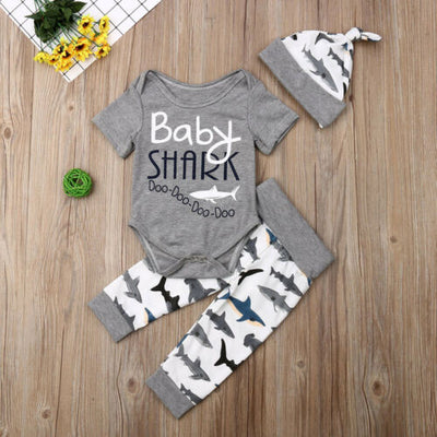 BABY SHARK Outfit with Beanie
