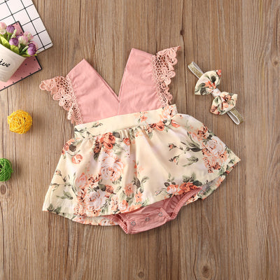 STELLA Lace Floral Dress