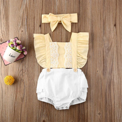 CALLA Lace Romper with Headband