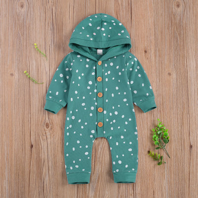 POLKA DOT Hooded Jumpsuit