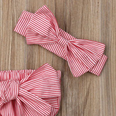 MARLY Bowtie Romper with Headband