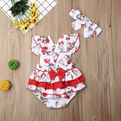 CHRISTMAS SPIRIT Romper with Headband