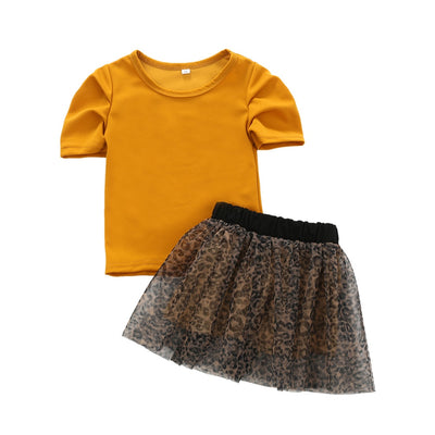 LEOPARD Tutu Skirt Outfit