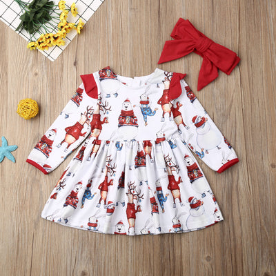 WINTER FESTIVAL Dress with Headband