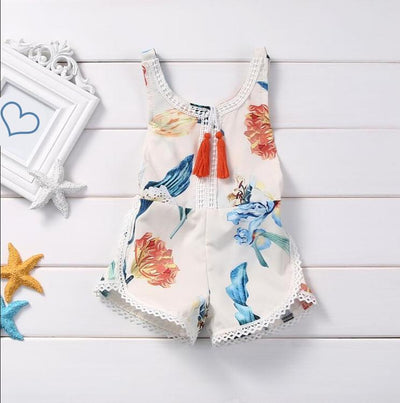 FLORA Girls Summer Romper