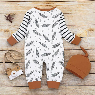 FEATHER Jumpsuit with Beanie