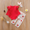 POPPY Floral Outfit with Headband