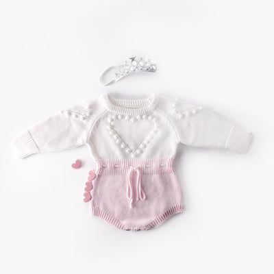 HEART Knitted Romper