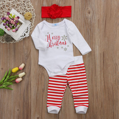 MERRY CHRISTMAS Outfit with Headband