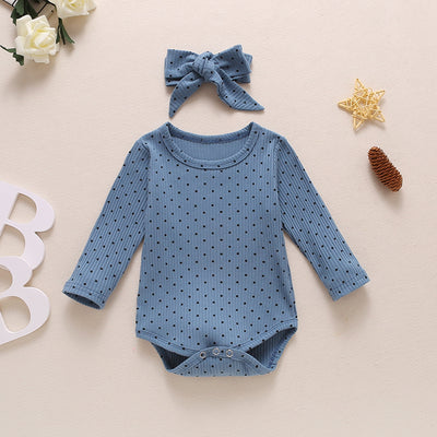 NORA Polka Dot Onesie with Headband