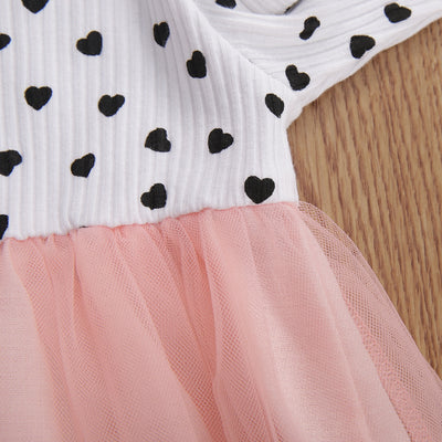 POLKA HEARTS Tutu Dress