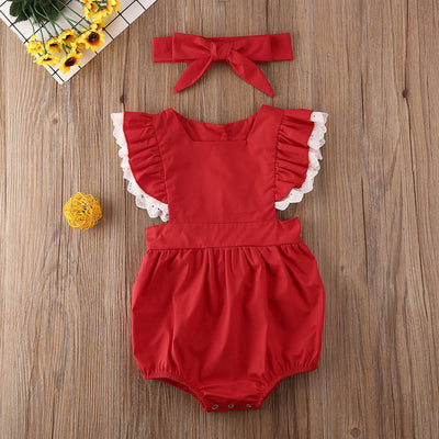 RUBY RED Lace Outfit