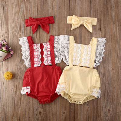 SILOH Lace Romper with Headband
