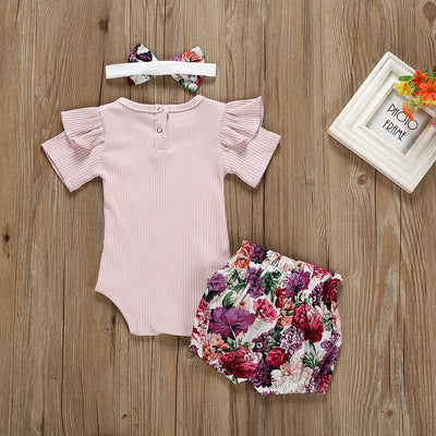 JASMINE Floral Outfit with Headband