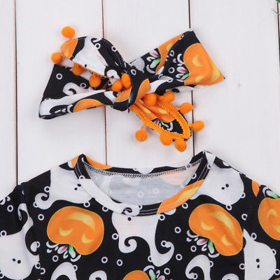 HALLOWEEN Long Sleeve Romper with Headband