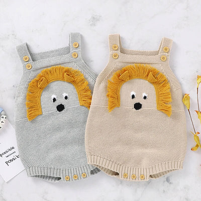 LITTLE LION Knitted Romper