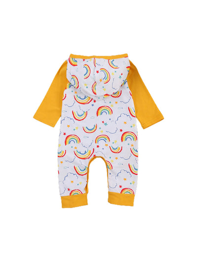 RAINBOW Yellow Hooded Jumpsuit