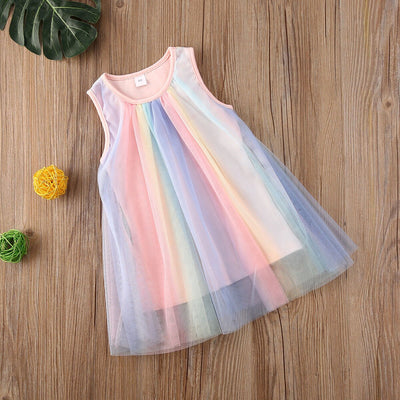RAINBOW Tulle Dress