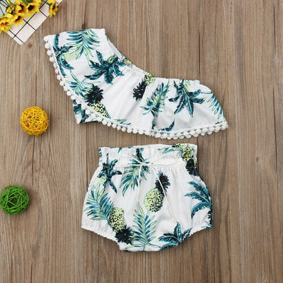PINEAPPLE Off-Shoulder Summer Outfit