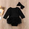 BLACK SWAN Romper with Headband