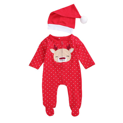 BABY DEER Jumpsuit with Santa Hat