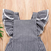 BODIL Gray Striped Romper