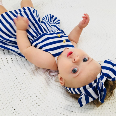 MILLIE Striped Summer Dress with Headband