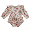 OLIVIA Floral Butterfly Sleeve Romper