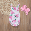 WATERMELON Romper with Headband