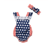STARS & STRIPES Lace Romper with Headband
