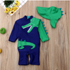 CROCODILE Swimsuit with Cap