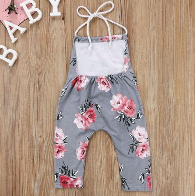 FLOWER Pull-on Girls Jumpsuit