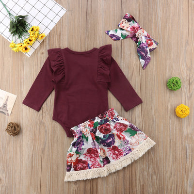 HARLOW Floral Skirt Outfit