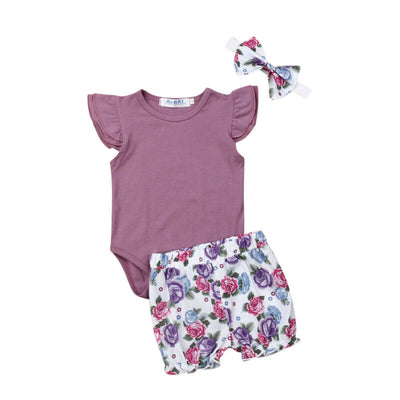 AUBREE Floral Outfit with Headband