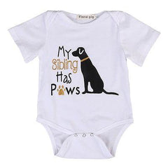 My Brother has four paws onesie