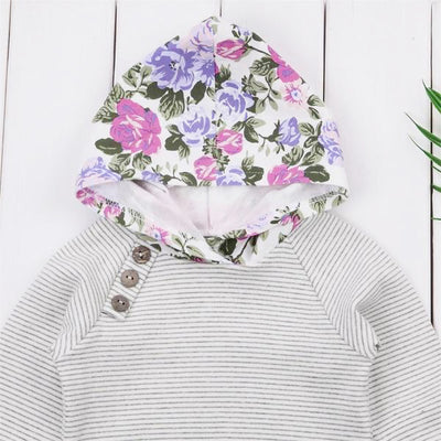 LILA Flower Hoody Outfit