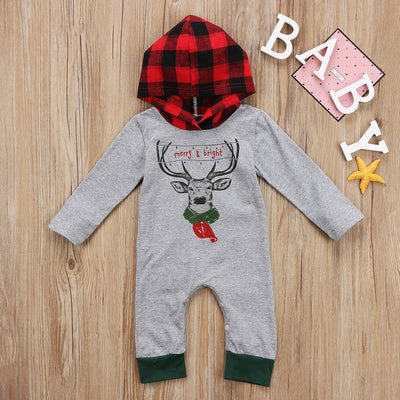 Hooded 'Merry & Bright' Jumpsuit