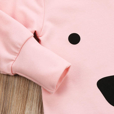 Pink Hooded Bear Jumpsuit