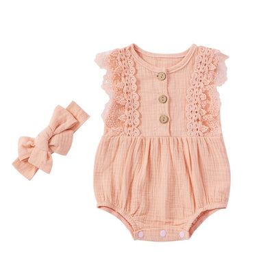 LUCIA Lace Romper with Headband