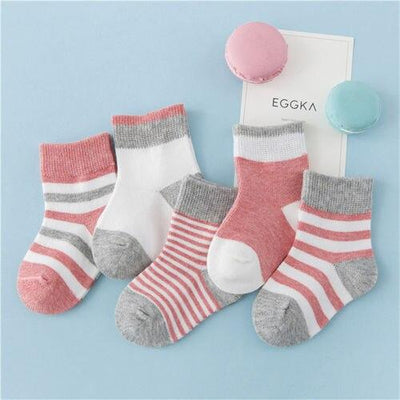 Striped Socks - Pair of 5
