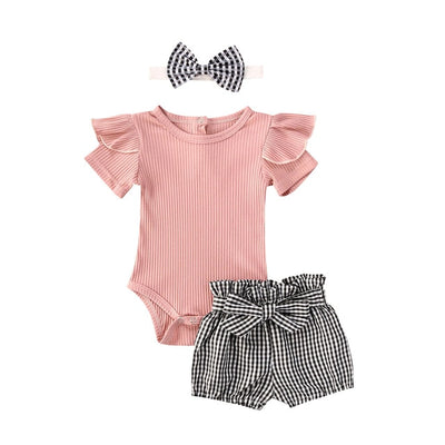 JULIETTE Plaid Summer Outfit with Headband