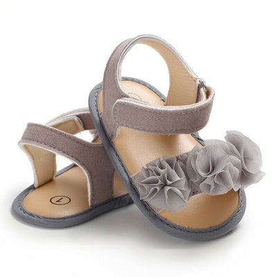 LOLA Ruffle Flower Sandals
