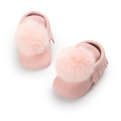 POLLY Fur PomPom Shoes