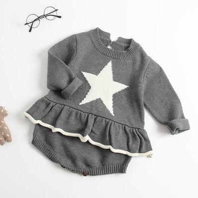 LOVE Knitted Romper