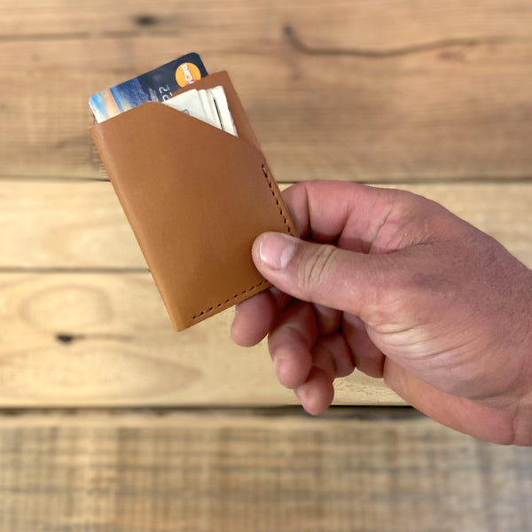 Wrapped Card Holder, - Leather Pasture