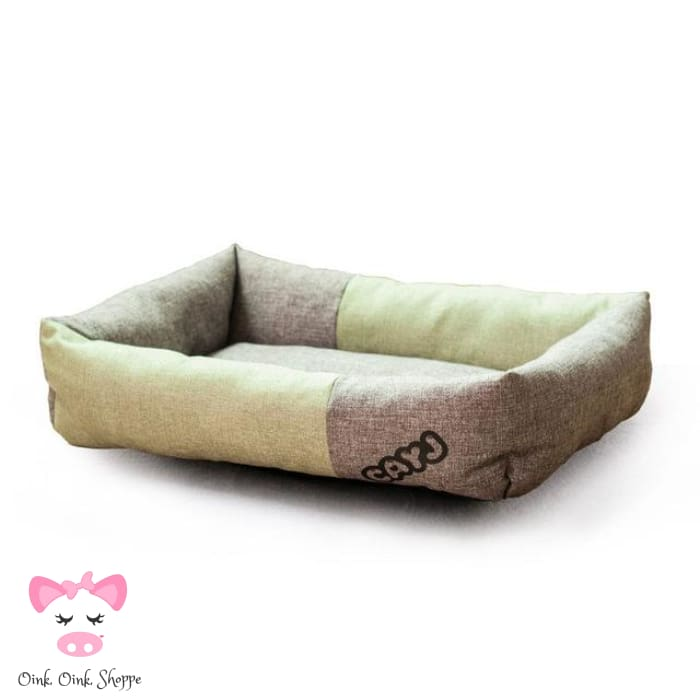 Chic Piggy Bed - Green / 58X45X14Cm