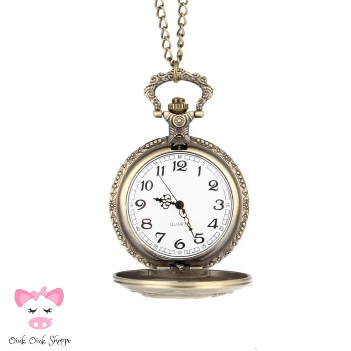 Classic Quartz Pig Pocket Watch